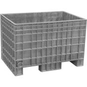 Buckhorn BF4229280051000 - 42x29x28 Agricultural Bulk Container-FDA Approved Light Gray