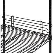 """Nexel® Black Epoxy Wire Ledge 30""""L x 4""""H"""