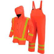 Viking® FR PVC Open Road Suit W/Hi-Vis Reflective Tape, Orange, L