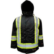 Viking® Journeyman FR Professional Insulated Trilobal Rip-Stop Parka W/Hi-Vis Striping, L