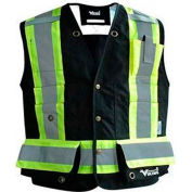 Viking® Journeyman FR Professional Trilobal Rip-Stop Surveyor Vest, Black, 3XL