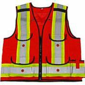 Viking® 4915R Hi-Vis All-Trades 1000D Safety Vest, Red, 2XL