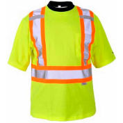 Viking® 6000G Hi-Vis Safety Poly/Cotton Lined T-Shirt, Green, 2XL