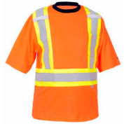 Viking® 6000O Hi-Vis Safety Poly/Cotton Lined T-Shirt, Orange, L