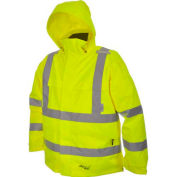 Viking® D6329JG Journeyman Hi-Vis 300D Trilobal Safety Jacket W/ Hood, Green, S