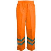 Viking® D6329WPO Professional Journeyman Hi-Vis 300D Trilobal Safety Waist Pants, Orange, L