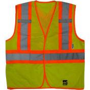 Viking® U6110G Hi-Vis Open Road BTE Safety Vest, Fluorescent Green, S/M