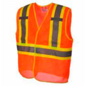 Viking® U6110O Hi-Vis Open Road BTE Safety Vest, Orange, 4XL/5XL