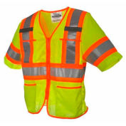 Viking® U6155G Hi-Vis Class 3 Safety Vest, Green, XL