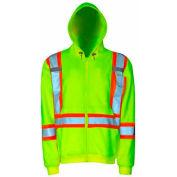 Viking® U6420JG Hi-Vis Safety Fleece Hoodie, Green, M