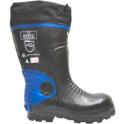 Viking® Ultimate Construction Work Boots, Black/Blue, Size 8