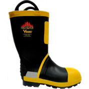 Viking® Firefighter Felt Lined Work Boots, Black/Yellow, Size 12