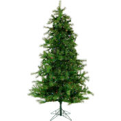 Christmas Time Artificial Christmas Tree - 6.5 Ft. Colorado Pine - Multi-Color/Clear LED Lights