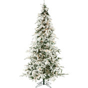 Christmas Time Artificial Christmas Tree - 7.5 Ft. White Pine - Clear LED Lights