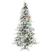 Christmas Time Artificial Christmas Tree - 7.5 Ft. White Pine Multi-Color/Clear LED Lights