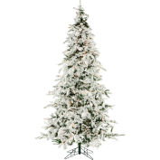 Christmas Time Artificial Christmas Tree - 7.5 Ft. White Pine Clear - Smart Lights
