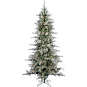 Fraser Hill Farm Artificial Christmas Tree - 6.5 Ft. Buffalo Fir Slim - 8F Clear LED Lights