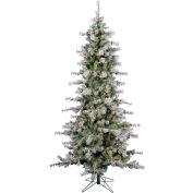 Fraser Hill Farm Artificial Christmas Tree - 7.5 Ft. Buffalo Fir Slim - 8F Clear LED Lights