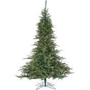 Fraser Hill Farm Artificial Christmas Tree, 7.5 Ft. Cluster Pine, Clear LED Lights