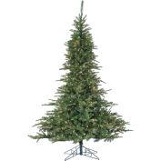 Fraser Hill Farm Artificial Christmas Tree, 7.5 Ft. Cluster Pine, Multi LED Lights