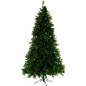 Fraser Hill Farm Artificial Christmas Tree - 10 Ft. Canyon Pine - Multi-Color LED String Lighting