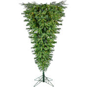 Fraser Hill Farm Artificial Christmas Tree - 5 Ft. Upside Down Ceiling Tree - Smart Clear Lights