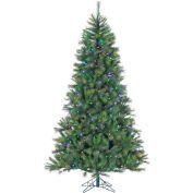 Fraser Hill Farm Artificial Christmas Tree - 6.5 Ft. Canyon Pine - Multi-Color LED String Lighting