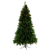 Fraser Hill Farm Artificial Christmas Tree, 7.5 Ft. Canyon Pine, Clear LED Lights