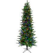 Fraser Hill Farm Artificial Christmas Tree - 7.5 Ft. Carmel Pine - Multi LED Lights