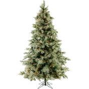 Fraser Hill Farm Artificial Christmas Tree - 7.5 Ft. Glistening Pine Tree - Clear Smart Lights