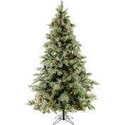 Fraser Hill Farm Artificial Christmas Tree - 7.5 Ft. Glistening Pine Tree - Clear LED Lights