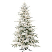 Fraser Hill Farm Artificial Christmas Tree - 7.5 Ft. Flocked Mountain Pine