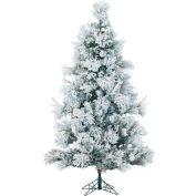 Fraser Hill Farm Artificial Christmas Tree, 7.5 Ft. Snowy Pine Flocked