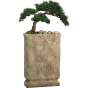 "Hanover 32"" Artificial Cedar Bonsai in Faux Stone Base"