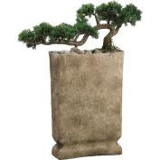 "Hanover 35"" Artificial Cedar Bonsai in Faux Stone Base"