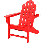 Hanover All-Weather Contoured Adirondack Chair, Sunset Red