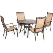 Hanover Manor 5-Piece Outdoor Dining Set, Cedar