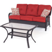 Hanover Orleans 2-Piece Patio Set, Autumn Berry/French Roast