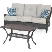 Hanover Orleans 2-Piece Patio Set in Silver Lining/Gray