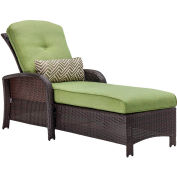 Strathmere Outdoor Luxury Chaise, Cilantro Green