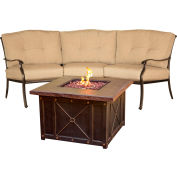 Traditions 2-Piece Chat Set w/ Durastone Fire Pit, Natural Oat