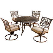 Hanover Traditions 5-Piece Outdoor Swivel Chair Dining Set
