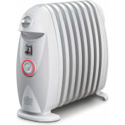 DeLonghi TRN0812T Safeheat 1200W Portable Oil-Filled Radiator with GFI Plug and Timer