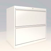 "ALB Plus 2 Fix Drawer Front Filing Cabinet 30"" Wide White"