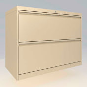 "ALB Plus 2 Fix Drawer Front Filing Cabinet 36"" Wide Beige"