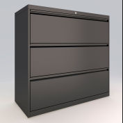 "ALB Plus 3 Fix Drawer Front Filing Cabinet 30"" Wide Black"