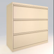 "ALB Plus 3 Fix Drawer Front Filing Cabinet 42"" Wide Beige"