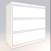 "ALB Plus 3 Fix Drawer Front Filing Cabinet 42"" Wide White"