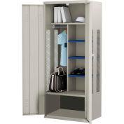 ALB Plus Gear Locker 9-3624-PED-44 w/Doors, Coat Bar, Shelves, 36x24x72 Gray All-Welded