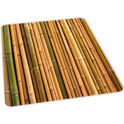 Aleco® Bamboo Design Hard Floor Office Chair Mat 36 x 48 Rectangle, Beveled Edge